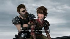 Hiccup's face! XD