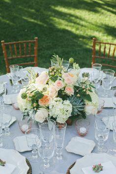 table centerpiece--colors