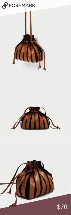 ZARA Mini Leather Bucket Bag Multicolor  👝PRICE IS FIRM👝 Zara Bags Mini Bags