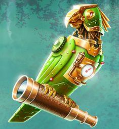 Sky Pirates: Steam Punk Parrot by patbollin on deviantART