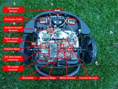 If like me you would prefer to be dining something else rather than mowing the lawn, you might be interested in this awesome open source Arduino mower Robotics Projects, Arduino Projects, Diy Electronics, Electronics Projects, Projets Raspberry Pi, Cool Things To Build, Diy Robot, Diy Tech, Raspberry Pi Projects