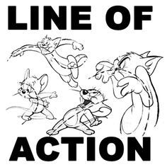 When drawing a cartoon character who is doing something, such as running, turning, jumping, etc then you will want to draw a line of action.A line of action is an imaginary line that extends through the main action of the comic figure. Learn how to draw this 'line of action' in the following cartooning / drawing tutorial.