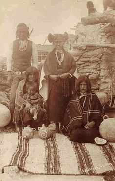Hopi family, ca 1890 Native American Actors, Native American Indians, American History, American Life, Teen Costumes, Woman Costumes, Couple Costumes, Pirate Costumes, Group Costumes