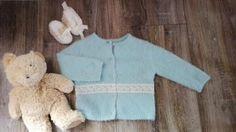 sweter sweterek niebieski dla dziewczynki