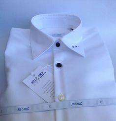 Camicia bimbo 14 anni con bottoni e monogramma a contrasto