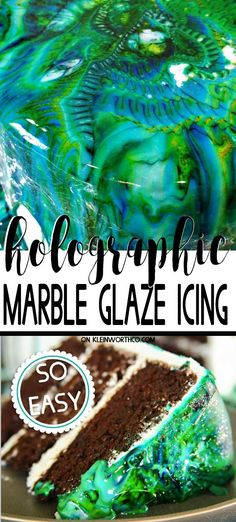 Easy Marble Drip Icing is an easy cake decorating technique that gives your cakes the WOW factor. Its as easy as whisk drop & pour for AMAZING cakes! Homemade Cake Recipes, Delicious Cake Recipes, Best Dessert Recipes, Fun Desserts, Dessert Dips, Amazing Recipes, Cupcake Recipes, Pie Recipes, Sweet Recipes