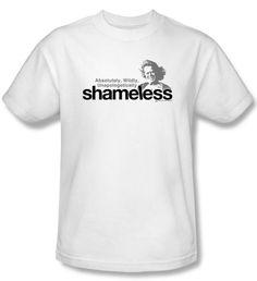 Shameless T-shirt TV Show Logo Adult White Tee Shirt Shameless T-Shirts This Shameless award winning British comedy drama series TV show t-shirt