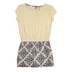 AO Blue Flower Jersey Dress
