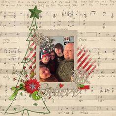 ~Believe~ digital scrapbook page layout by Annette Pixley (pixleyyy) using Chrismas Joys by Keley Designs.