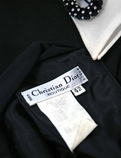 1990's Christian Dior Black Strapless-Illusion Collar & Cuffs Mini Party Dress | From a collection of rare vintage evening dresses at https://www.1stdibs.com/fashion/clothing/evening-dresses/