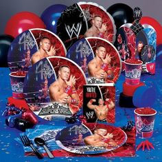There are new WWE Party supplies at Celebrate Express! My son's a huge WWE fan, he started watching because his friends a big fan. Maybe we'll have to plan a WWE party for him this year… Wrestling Birthday Parties, Wrestling Party, Wwe Birthday, Ninja Birthday Parties, Birthday Party Themes, Birthday Ideas, Kid Parties, Themed Parties, John Cena