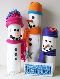 Katie- super easy sup sat craft idea. Snowman family