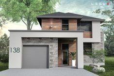 New exterior bungalow modern decor 19 ideas 3d Home Design, Modern House Design, Boutique Homes, Modern House Plans, Trendy Home, Architect Design, Exterior Design, Exterior Colors, Planer