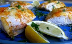 Baked Lemon Cod -  halved the butter and added cumin, dry mustard and garlic powder to the flour and some lemon slices on top while cooking.