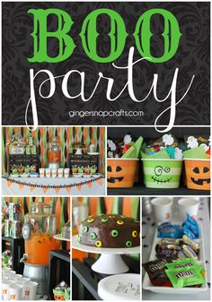 Celebrate Halloween with a BOO party! Get ideas for decor, crafts, and food to bring it all together.