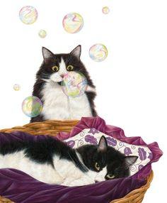 Anne Mortimer  Bubbles | Bubbles Art of Anne  =^••^=
