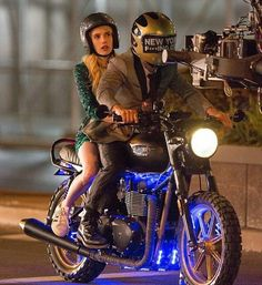 Dave Franco and Emma Roberts on the set of Nerve