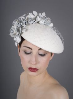 Floral veiled beret | William Chambers Millinery | Autumn/Winter 2013-2014