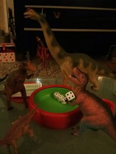 Dinos' love Yahtzee! #dinovember