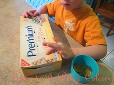 a box and pasta at Flushed with Rosy Colour