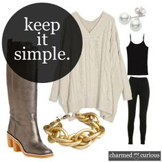 Easy & Comfy Work Outfit!        http://www.charmedandcurious.com/2013/03/comfort-meets-class.html