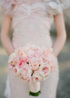 Romantic blush pink wedding bouquet  #pink #bouquet #flowers