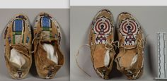 Cheyenne mocs, left pair from Ft. Keogh, pre 1893.  NMNH ac