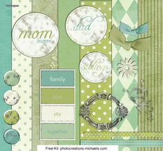 Create Mom or Dad a beautiful digital scrapbook page to show how much you love them!
