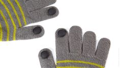 Digits Conductive Glove Pins. Let you use your smartphone with gloves on. WANT!!!!!