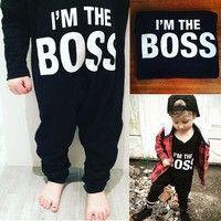 Wish | Cotton Newborn Toddler Baby Boy Clothes Long Romper Bodysuit Jumpsuit Outfits 0-24Months