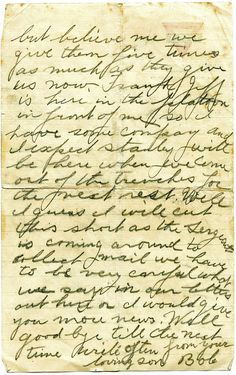 Two letters written by Robert Burns Florence in World War One show the dramatic change in him after doing battle at The Somme. Page Three, Robert Burns, September 22, World War One, Letter Writing, Florence, Letters, Blog, World War I