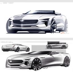 "1,956 Likes, 5 Comments - Car Design World (@cardesignworld) on Instagram: ""Cadillac XLR sketches by AJ Merk @ajmerk_997 #cardesign #car #design #carsketch #sketch #cadillac…"""