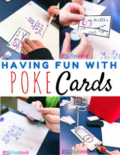 Having Fun with Poke Cards (Freebie Included!) - Poke cards are simple to use yet very engaging and students can work independently and check their own work. (They will also have lots of fun!)