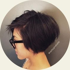 short choppy messy bob