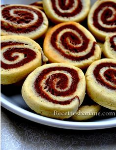 Biscuits escargot vanille-chocolat
