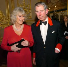 Prince Charles and Camilla Parker-Bowles announce their engagement at Windsor Castle on February 10, 2005