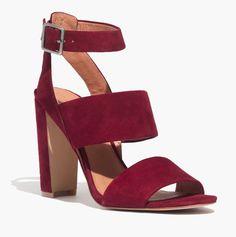 madewell octavia sandal in dark cabernet.