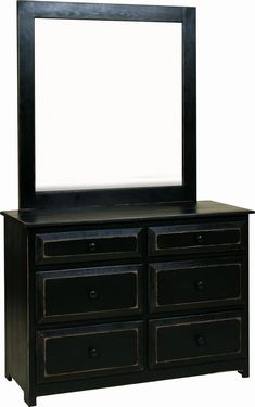 Exceptionnel Amish Pine Wood Dresser With Optional Mirror