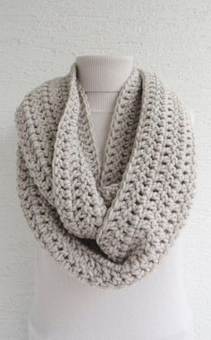 SALE Extra Large Chunky Infinity Scarf Loop Circle