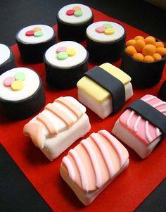 Sushi cupcakes.