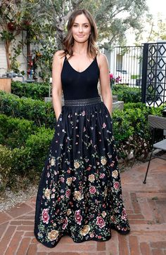 70aa5885e9 Minka Kelly in a floral maxi dress