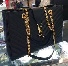 YSL Black Gold Handbag Designer Fashion Style Trend
