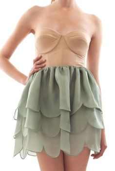"""oh, this would be too perfect if i could change/dye the top half a more """"me"""" colour. but i love the bottom skirt half with that scalloping. this is so cute."""