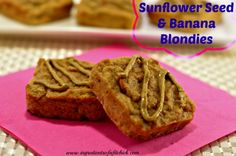 Sunflower Seed and Banana Blondies - The Kitchen Table - The Eat-Clean Diet®