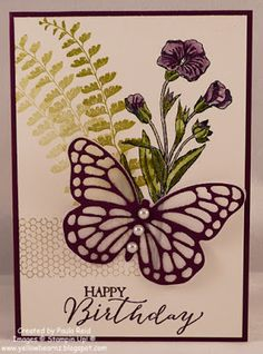 Yellowbear Stampin: Butterfly Basics - Colouring with Blender Pens