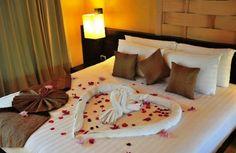 Romance and rose petals