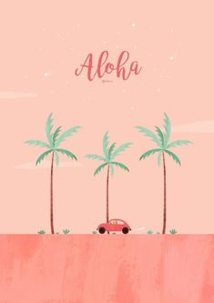 폰 테마샵 Phone Theme Shop Illustration < Aloha > 알로하~ 핑크핑크한 세번째 여름 테마!야... Art And Illustration, Illustrations, Cute Wallpapers, Wallpaper Backgrounds, Hd Vintage, Phone Themes, Deco Rose, Affinity Designer, Surfer