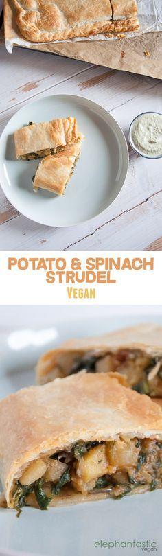 Vegan Potato & Spinach Strudel   ElephantasticVegan.com