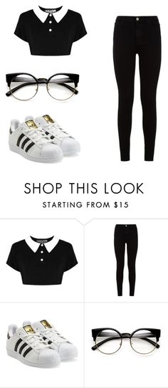 """Untitled #82"" by bansheeofpeanuts on Polyvore featuring 7 For All Mankind and adidas Originals"