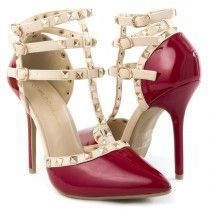 Wild Diva Womens 27-ADORA55 Heel Pumps RED